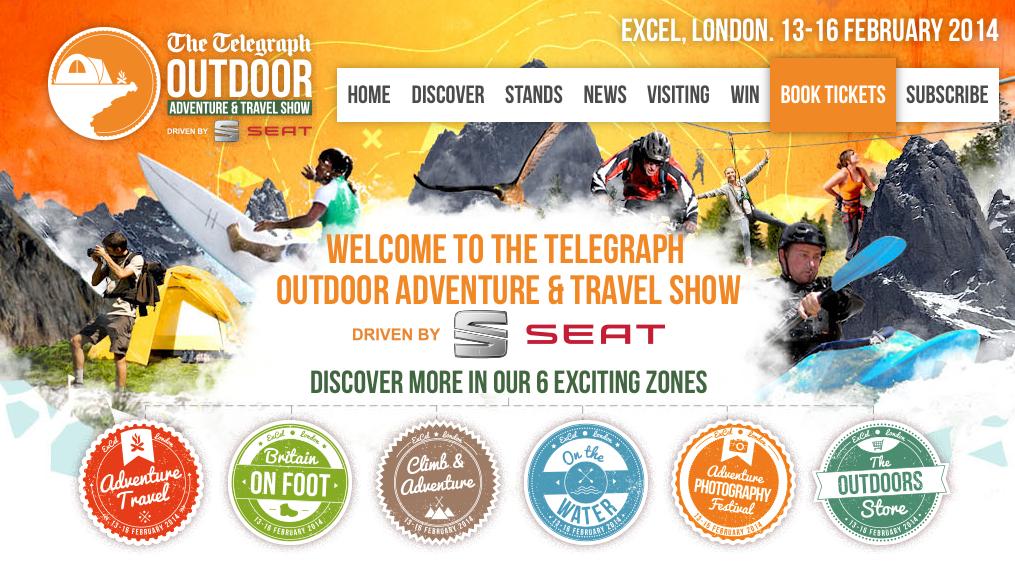 Telgraph Outdoor show - Adventure 52 magazine
