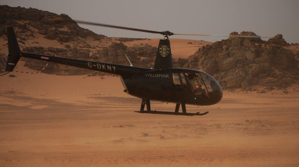 Flying over the Sahara desert in a light aircraft with prepare2go