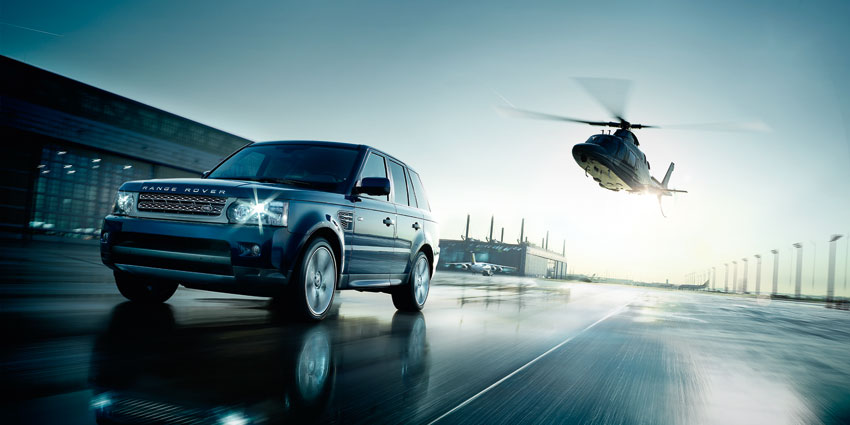 Range Rover + Helicopter = Fun