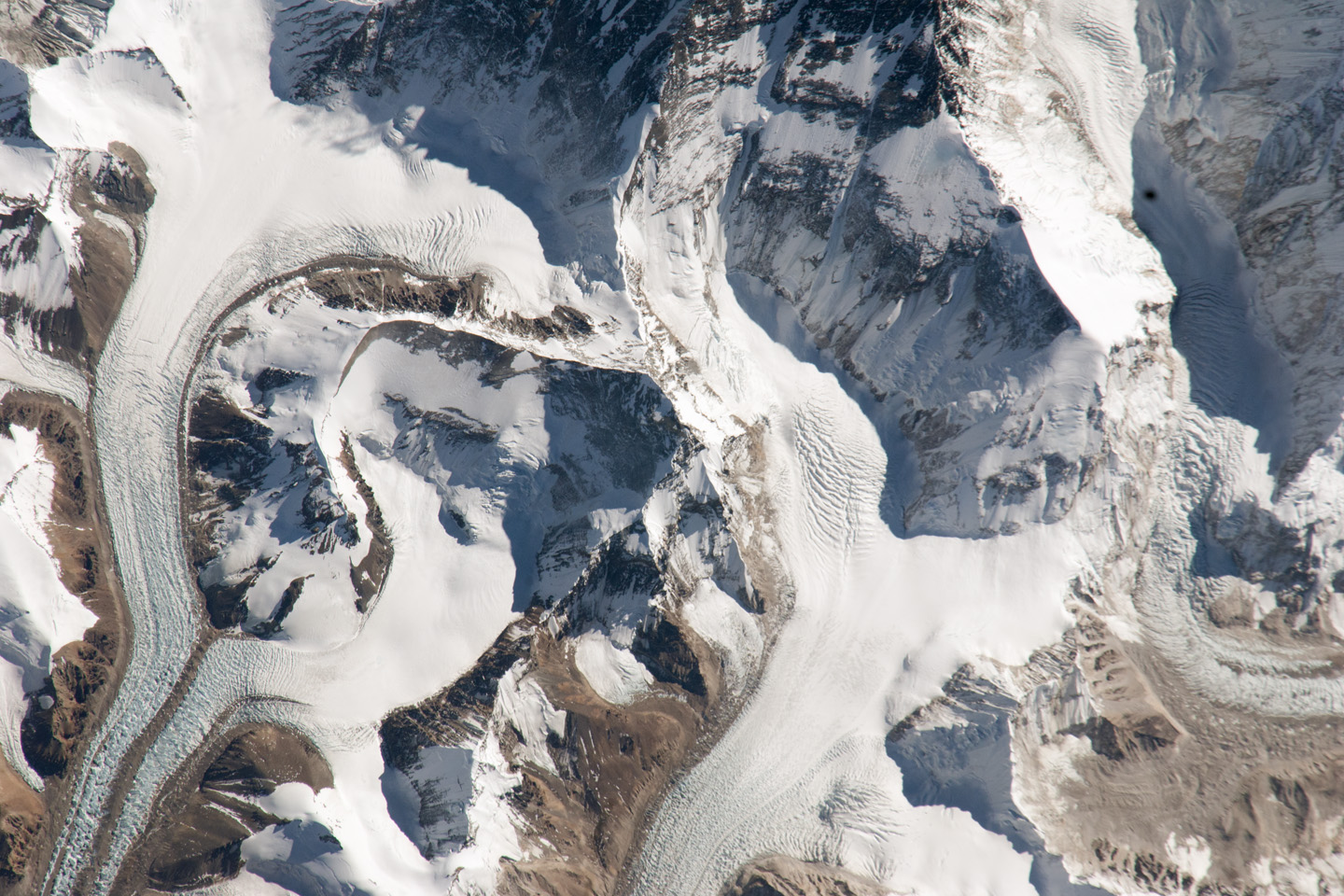 An astronaut's photo of Mount Everest