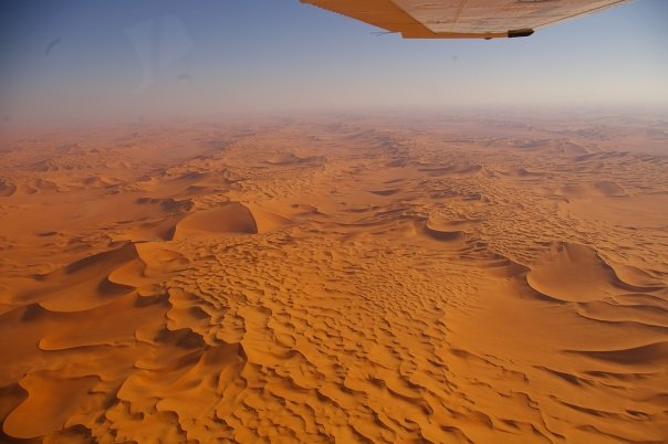 Flying over Libya in a light aircraft