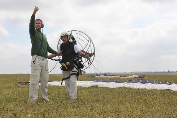 Completing an intermediate paramotoring course