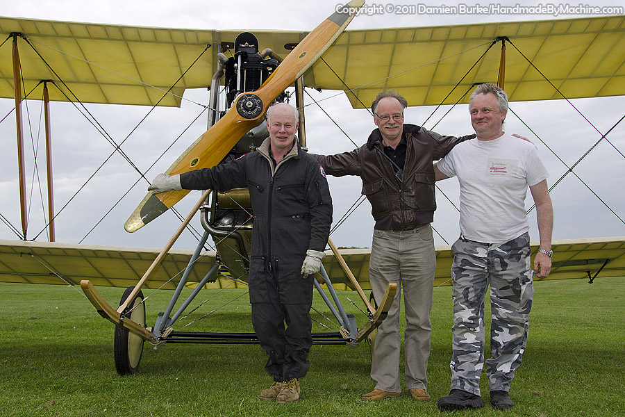 Biggles biplane flies after a six year restoration