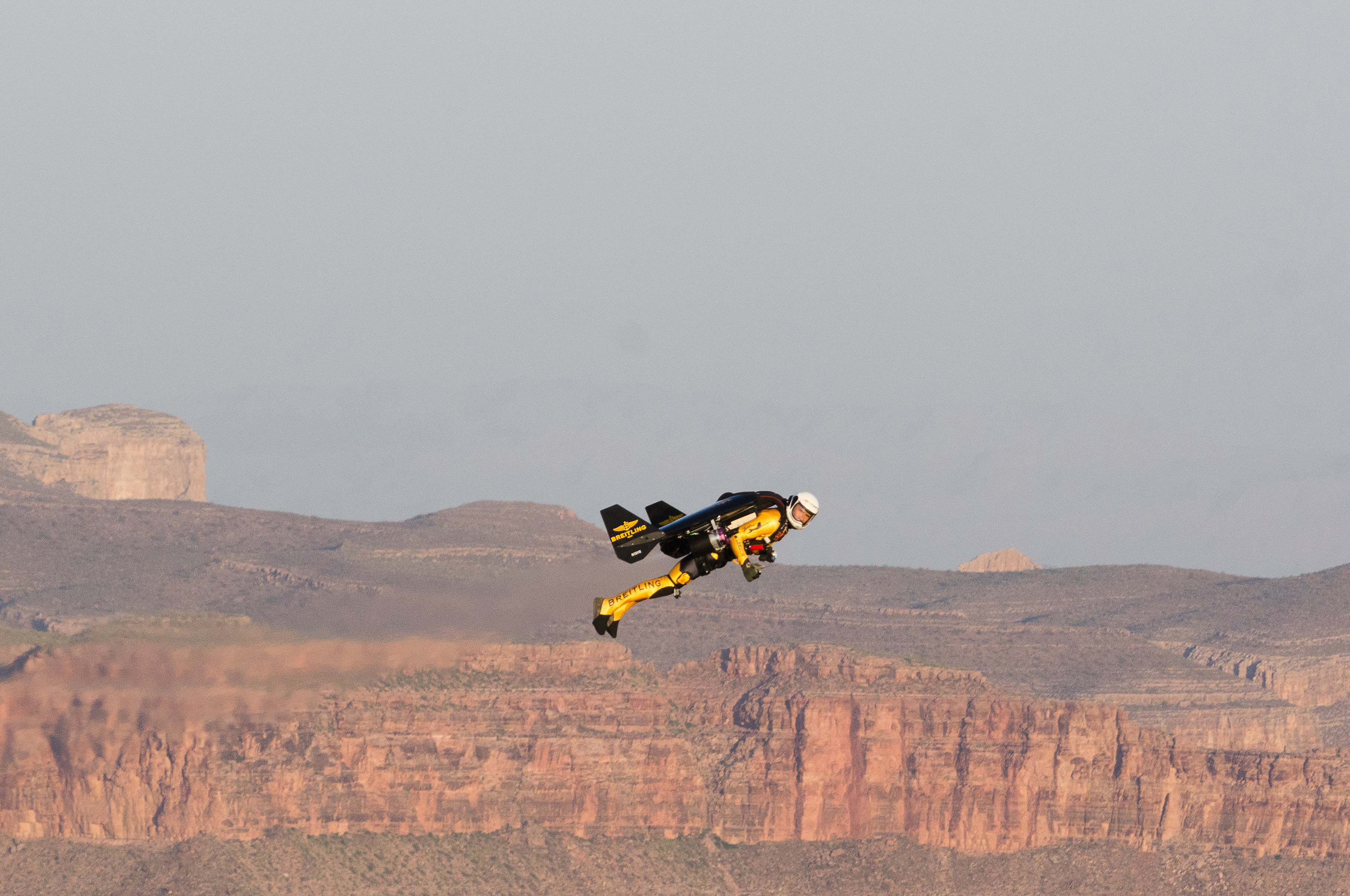 Breitling's Jetman soars across the Grand Canyon West