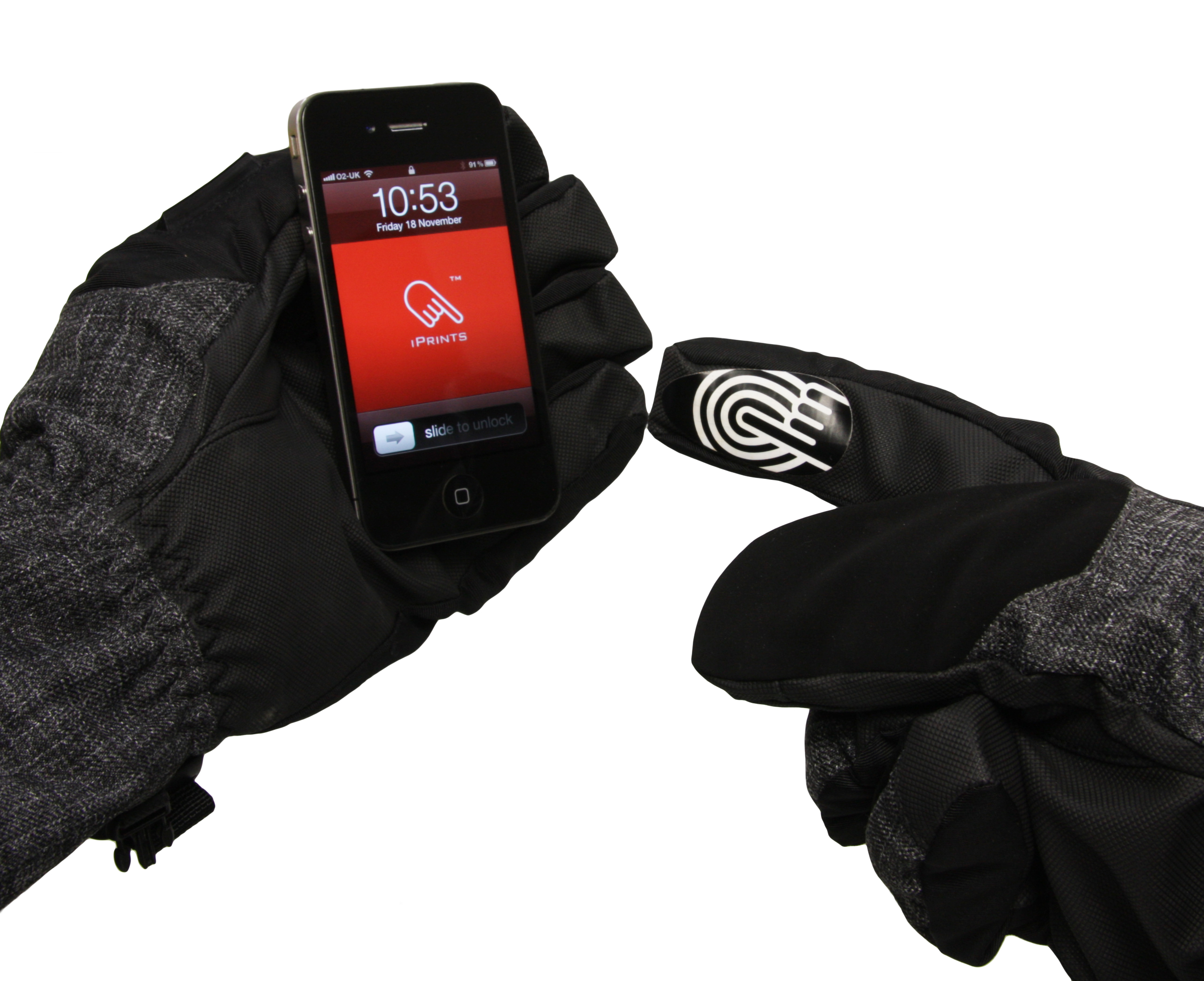 iPrints stickers let us operate touch screens while wearing ski gloves
