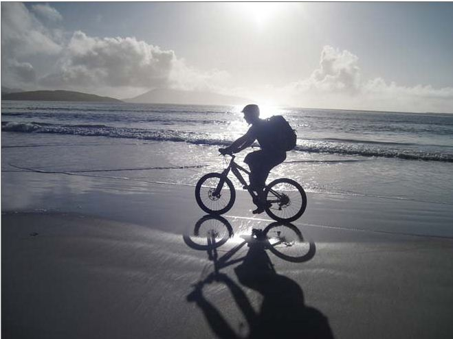 The mountain bike the trail that links seven Hebridean Islands