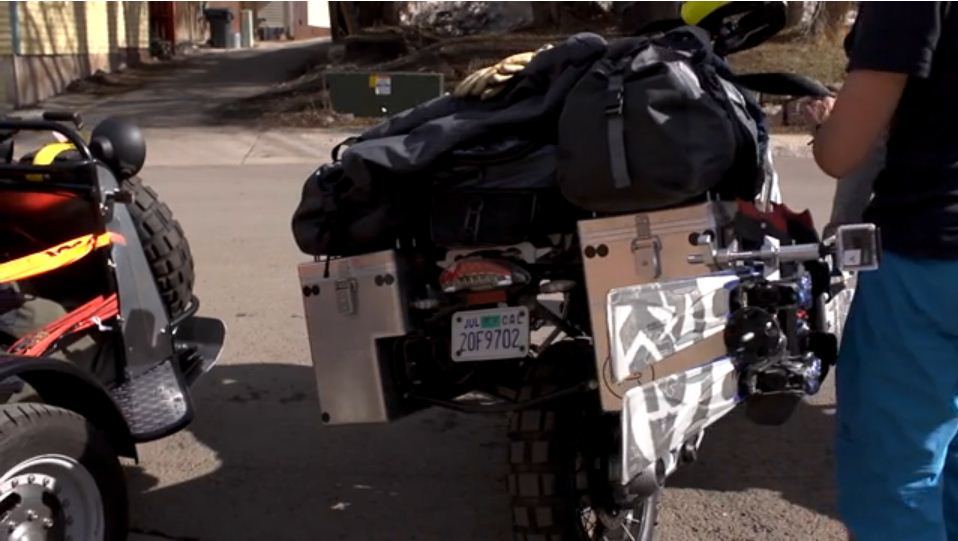 Aether combines skiing and motorcycling in its video called Chasing Winter