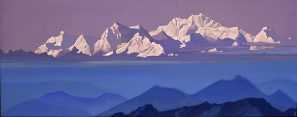 Kanchenjunga painting - Adventure 52 magazine