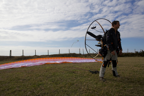 Bear Grylls unveils the BG Paramotor