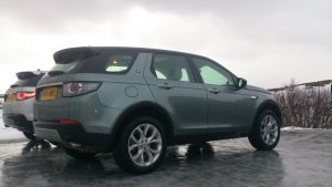 Discovery Sport parked up at Silfra