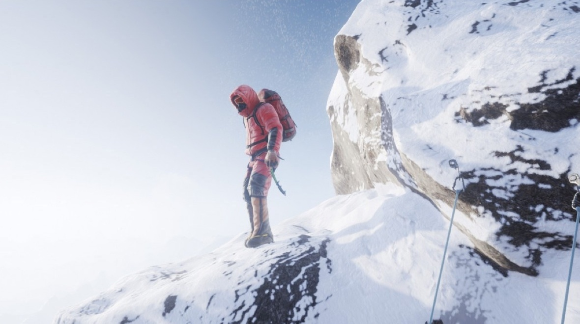 A virtual reality climb up Everest using the HTC Vive