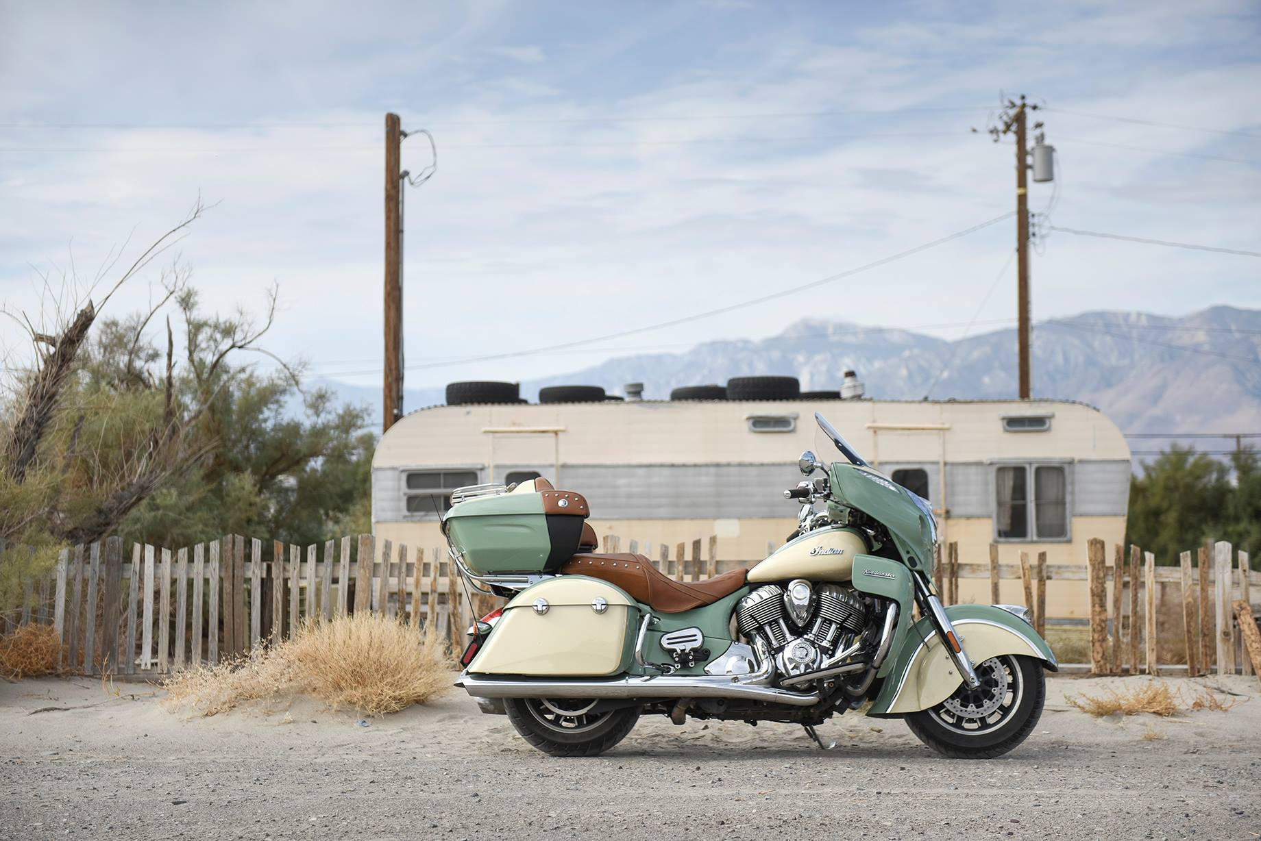 Santa Rosa to Crestline on an Indian Roadmaster