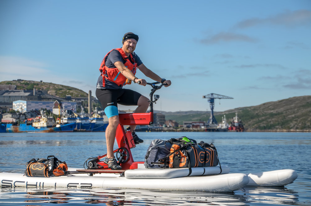 Dave Cornthwaite's 1,500 mile waterbike adventure