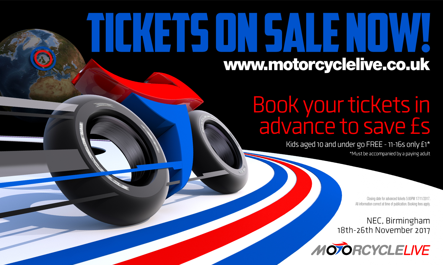 Tickets now on sale for Motorcycle Live