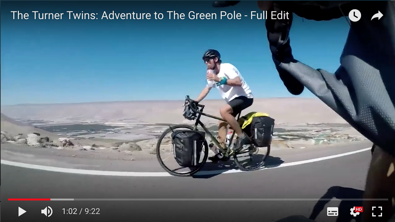 Video: Turner Twins' cycling expedition to the Green Pole