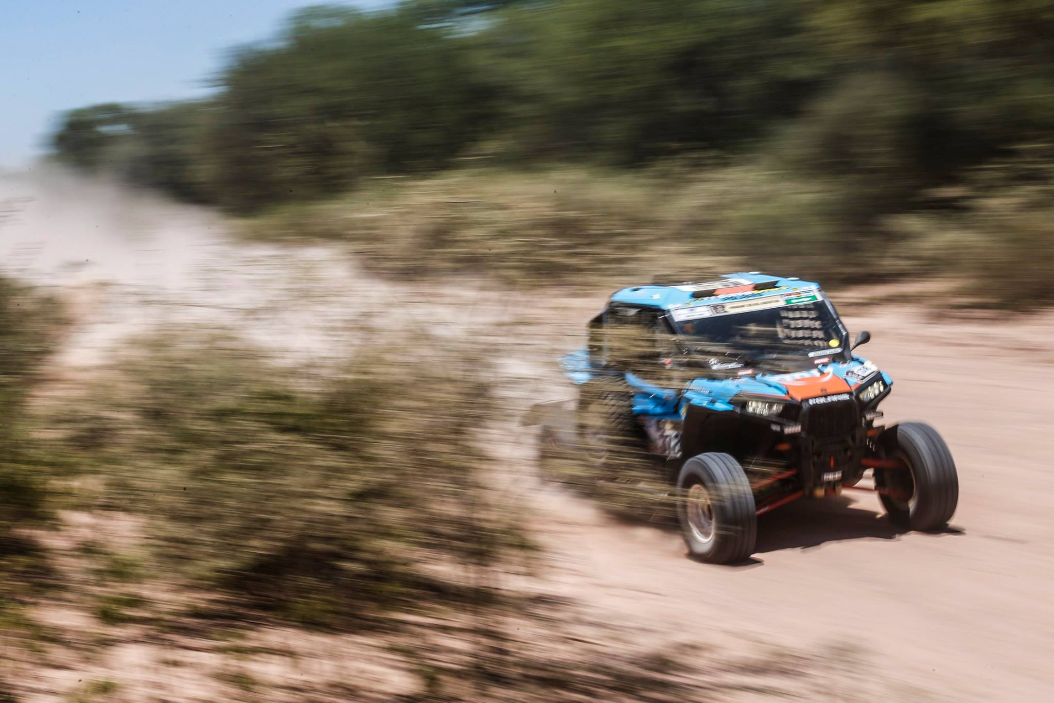 Polaris RZRs prepare for the Dakar Rally