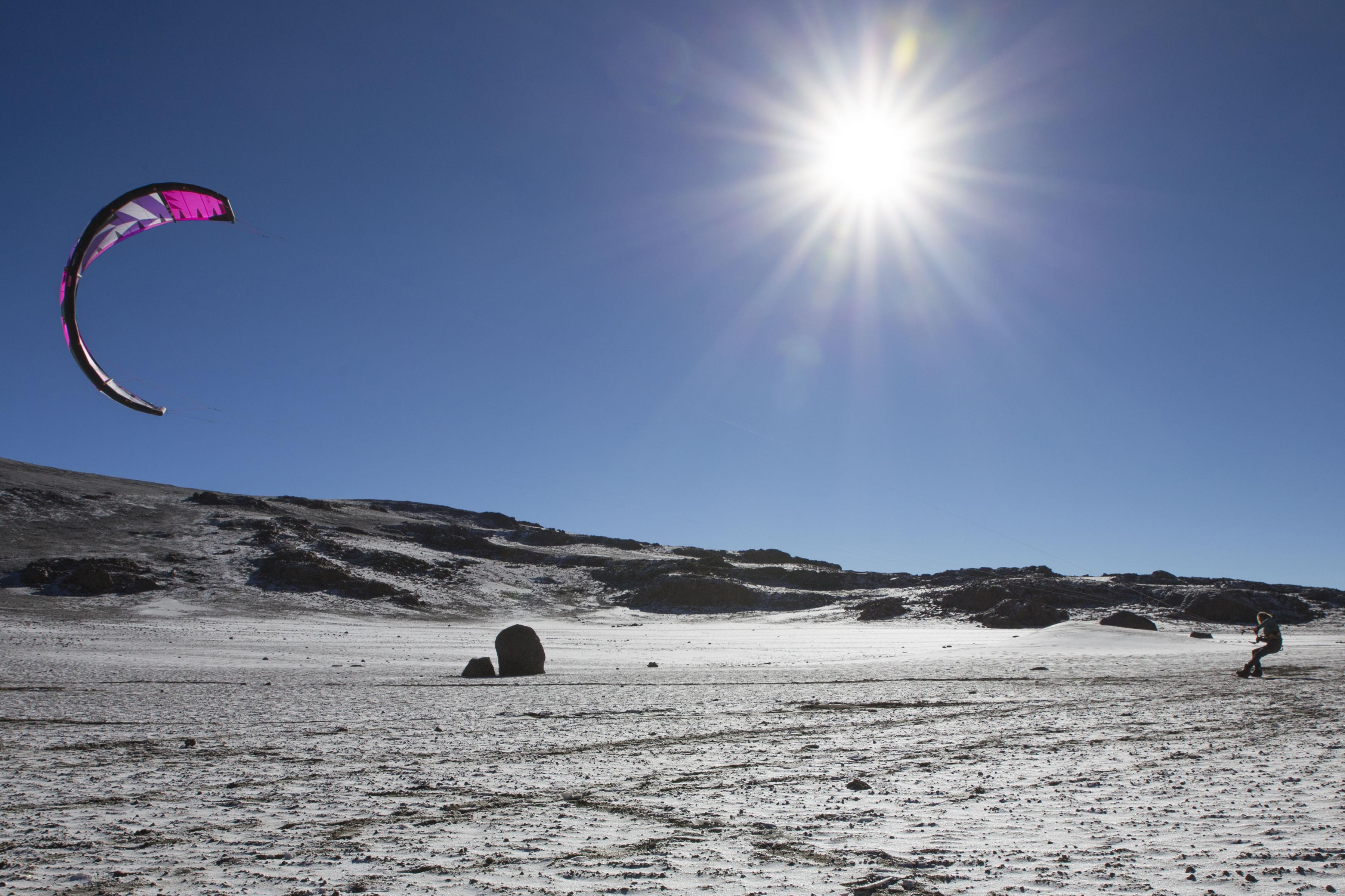 Jerrie van de Kop's 23-day kitesurfing expedition