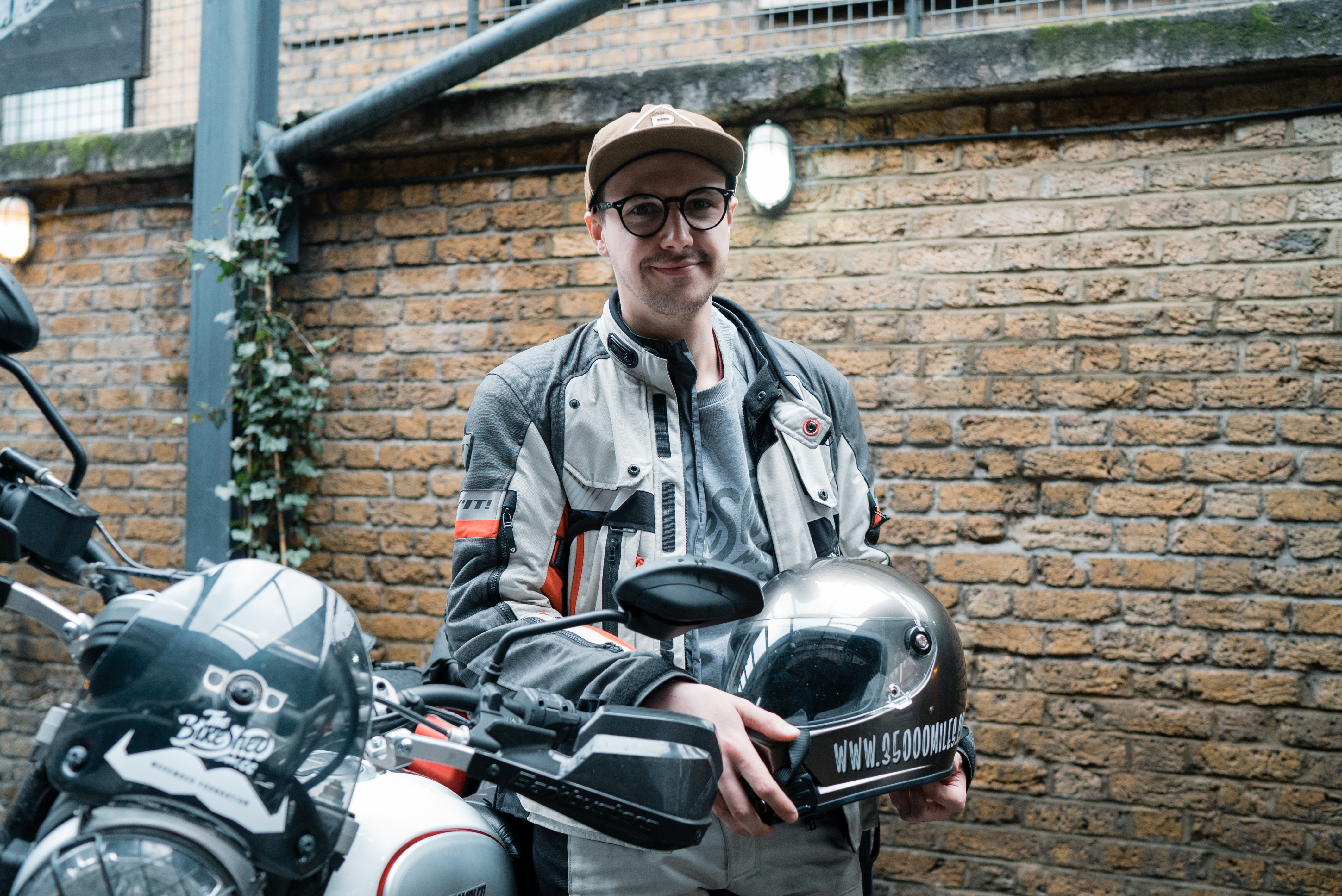 22-year-old's solo motorcycle trip around the world