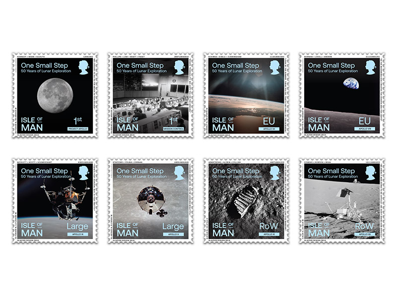 Stamps celebrate the 50th anniversary of the moon landing
