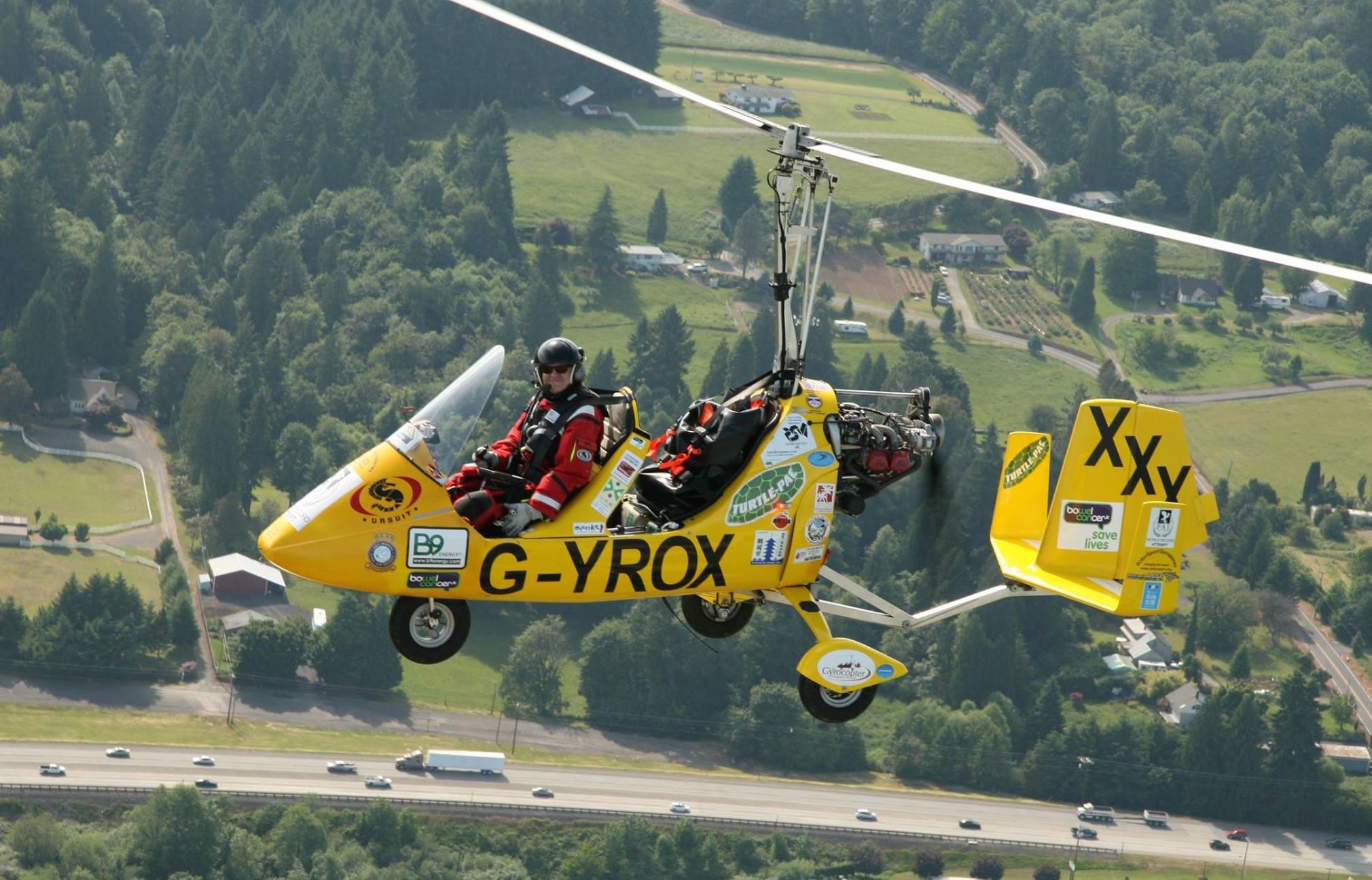 Norman Surplus completes round-the-world autogyro adventure