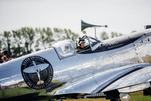 The Silver Spitfire makes it to American skies