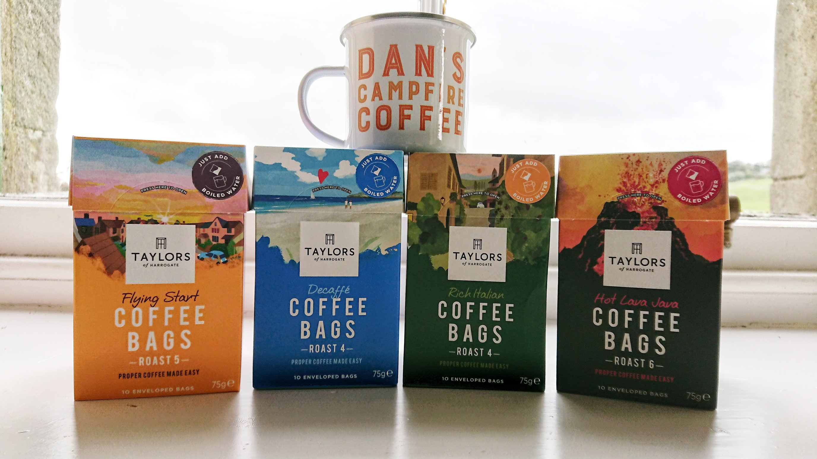 Taylors coffee bags – work just like a teabag