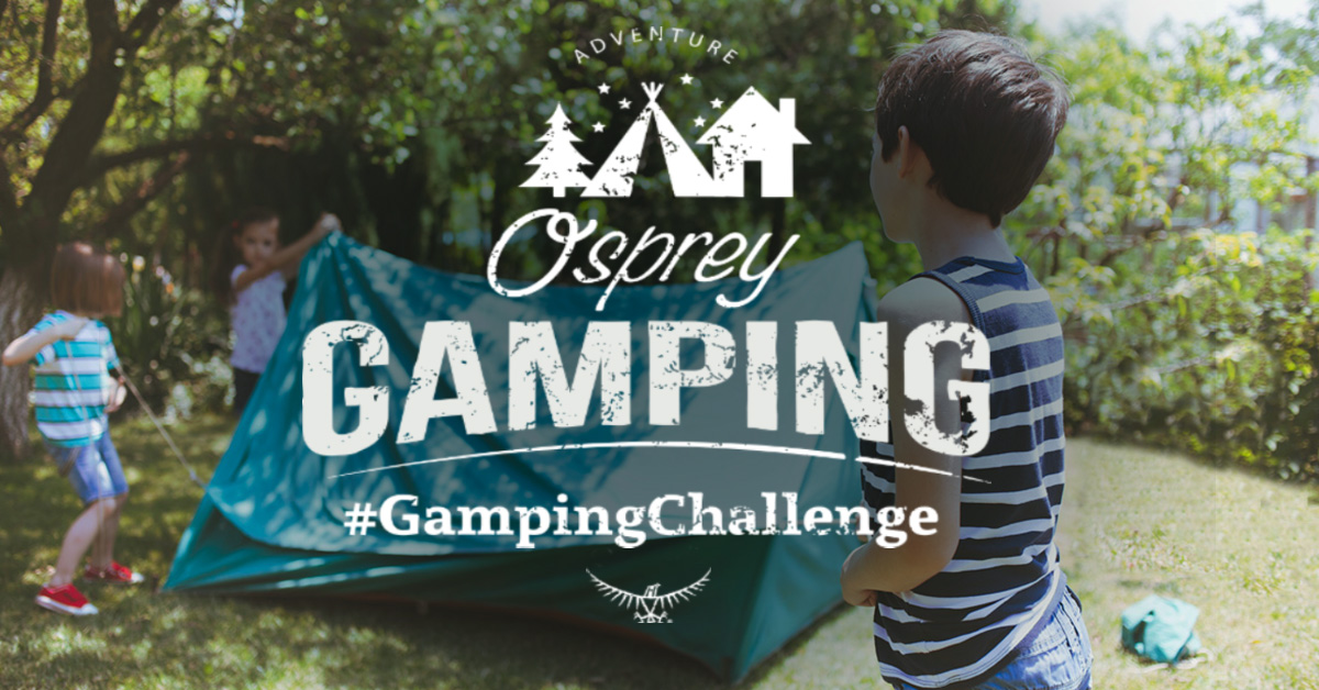 Take part in Osprey's #GampingChallenge