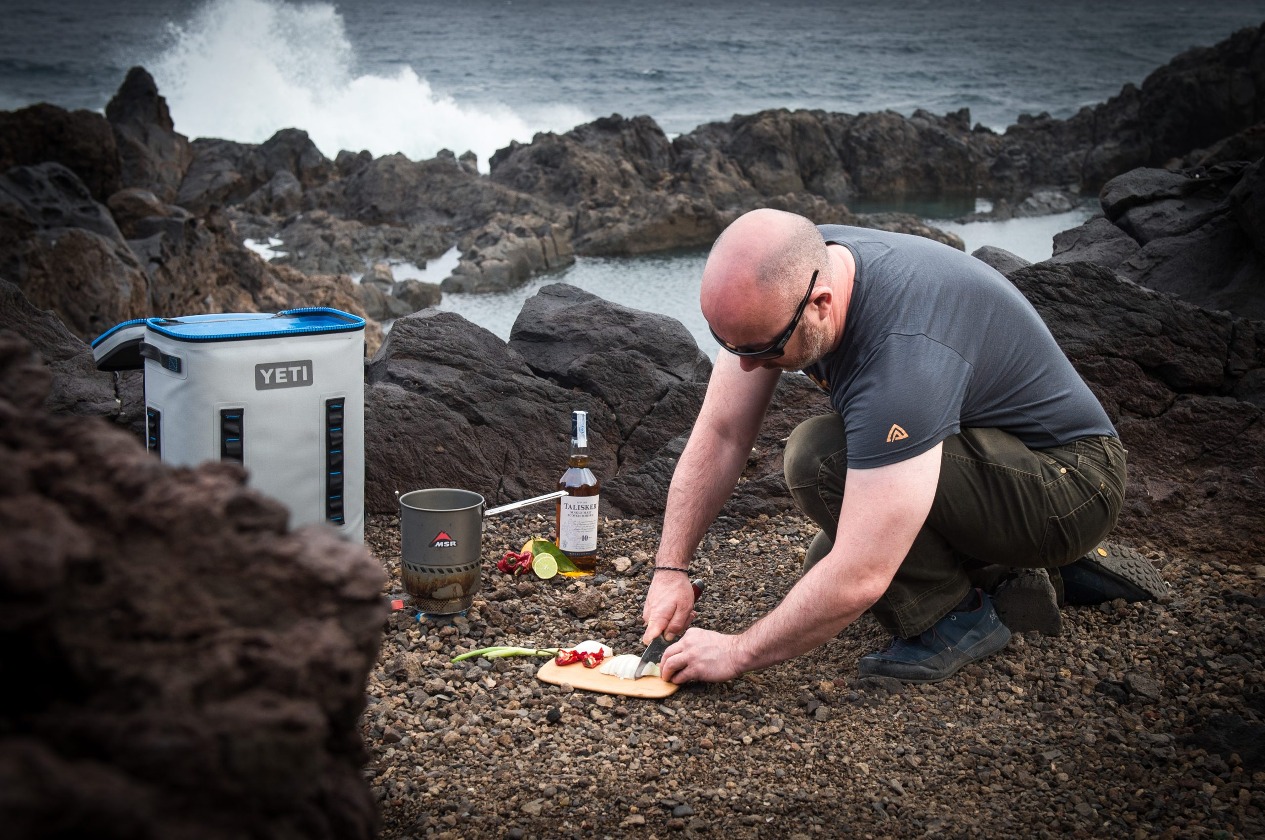 Tacos & cocktails at the start of the Talisker Atlantic Challenge
