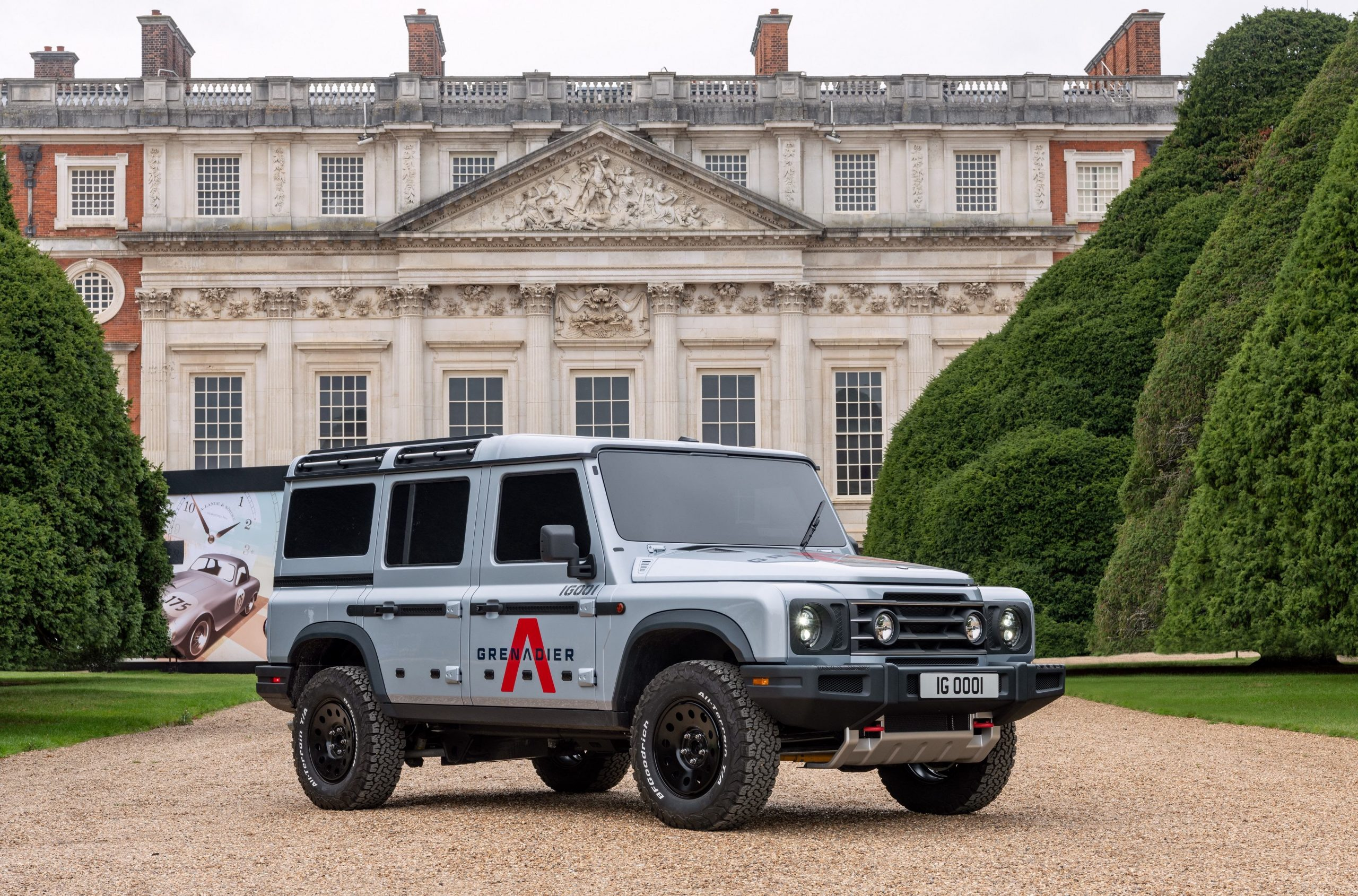 Grenadier off-roader displayed at the Concours of Elegance