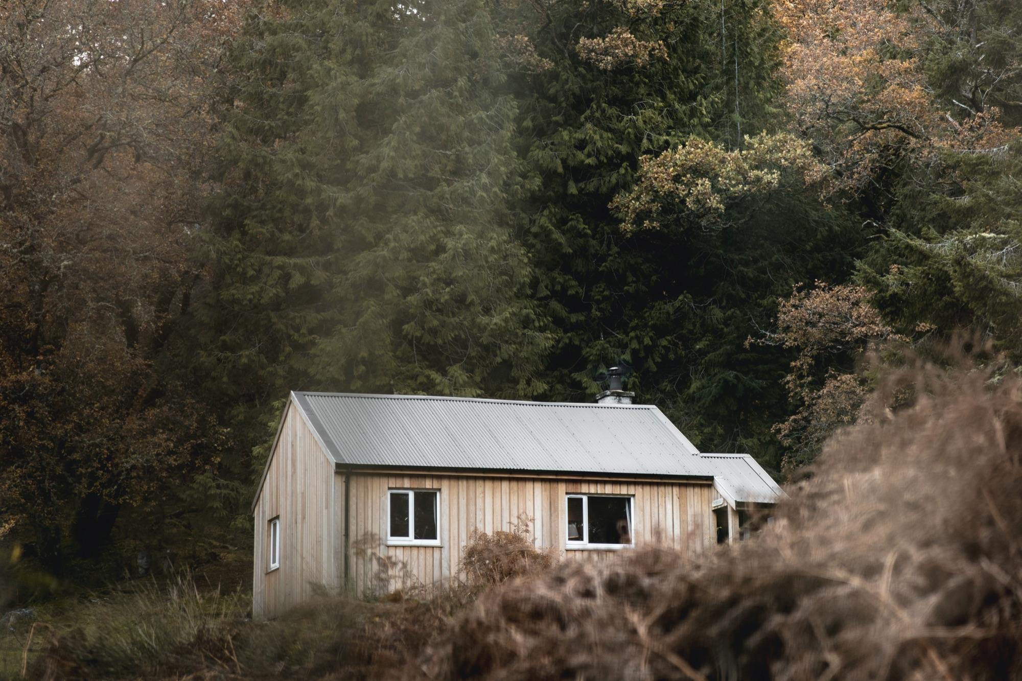 Timber Cottage on the Scottish island of Eilean Shona