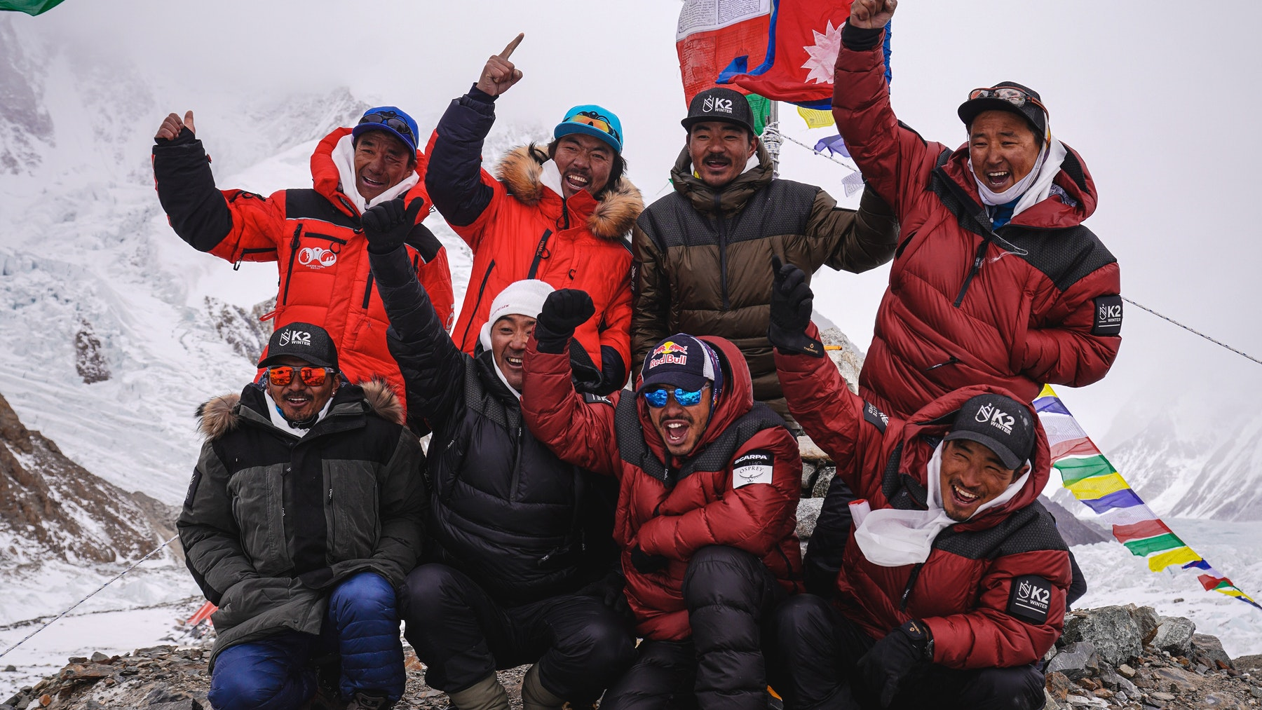 Nepalese team of 10 complete first ever winter summit of K2