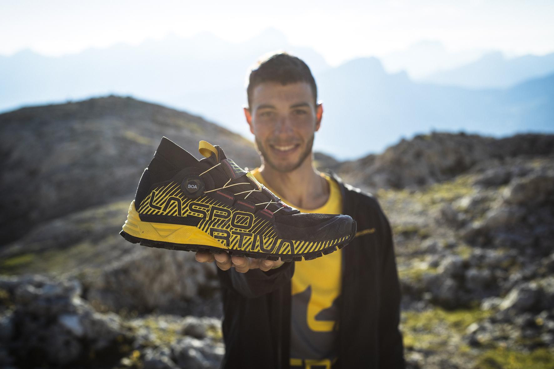 New La Sportiva Cyklon trail shoes have a BOA lace system