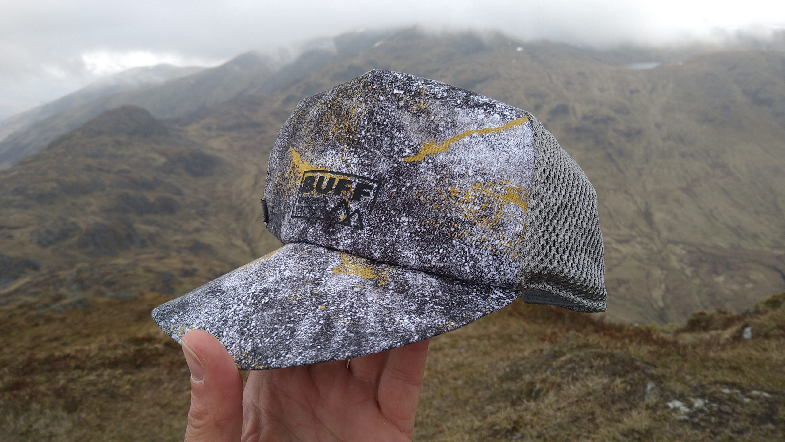 Buff Trucker Cap can neatly pack down and regain its shape