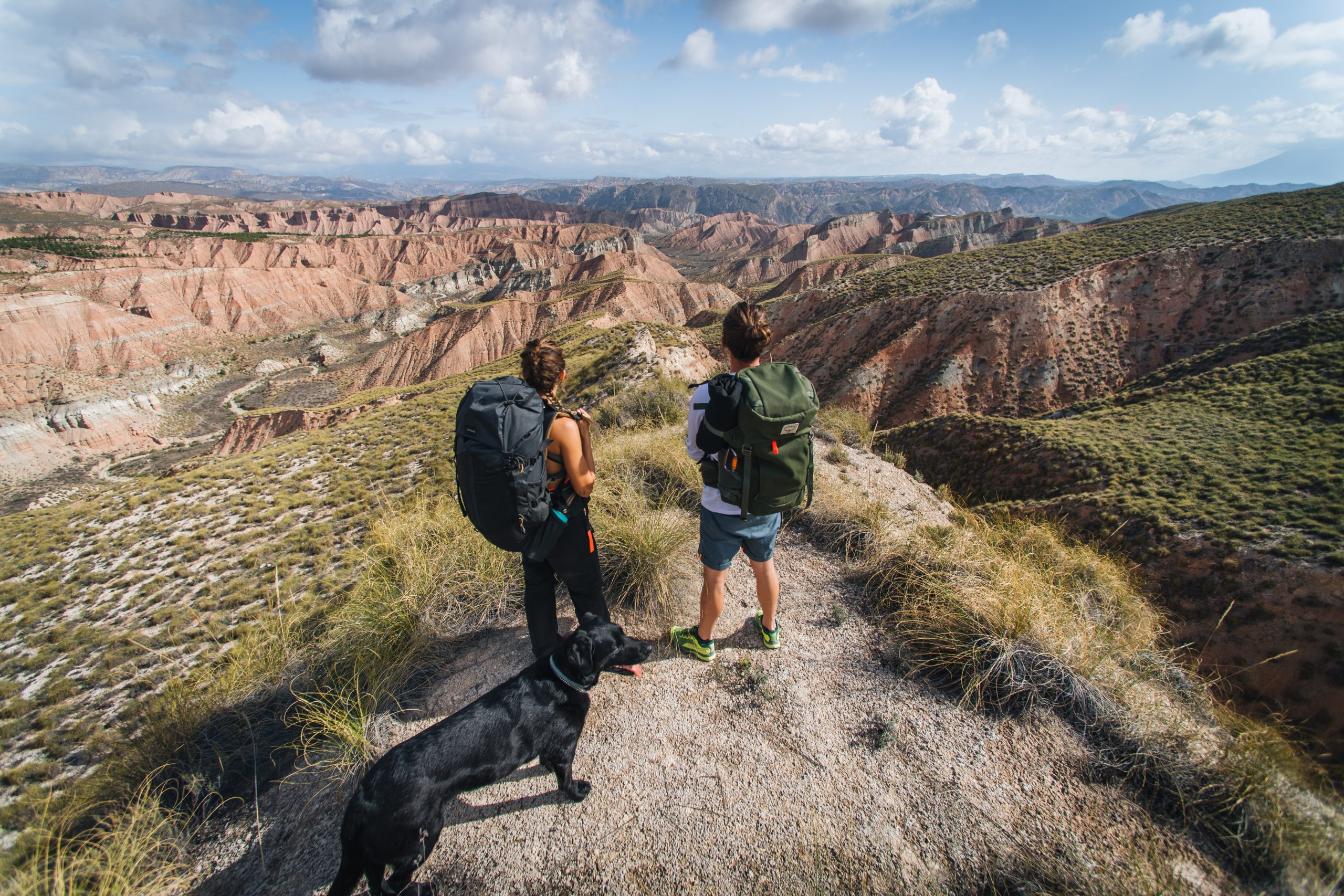 Desert heat and mountain storms on hiking trails in Granada