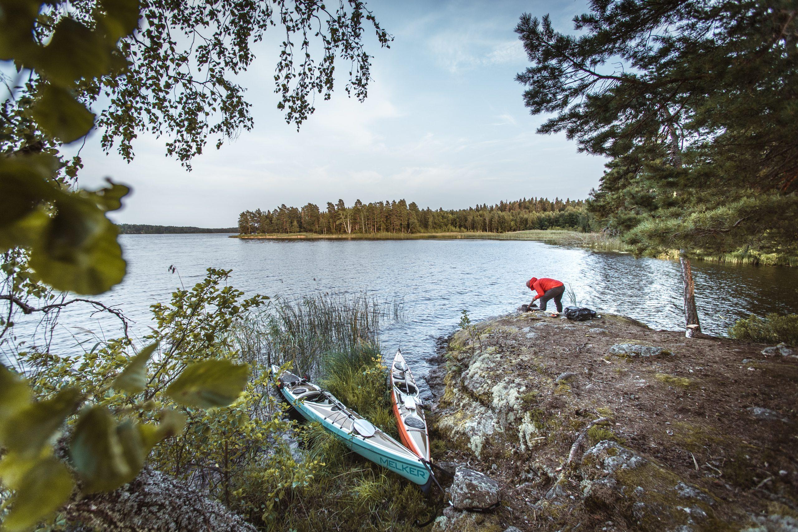 A multi-day kayaking trip through Sweden